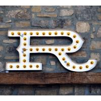 "Wholesale Large Lighted Metal 24"" Vintage Marquee Light Letters / Light Bulb Signs Letters from china suppliers"