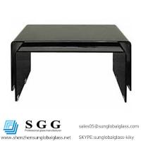 Wholesale Grade A High quality of black curved shape glass tops from china suppliers
