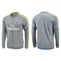 Wholesale Real Madrid Grey Football Sportswear Long Sleeve Soccer Jersey Training Suit L S from china suppliers