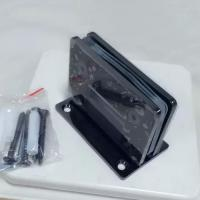 Wholesale Black plated glass door hinge with centre fixing plate from china suppliers