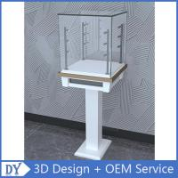 Wholesale Free 3D design modern fashion wooden tempered glass display cabinets with 4 pcs led spot lights from china suppliers