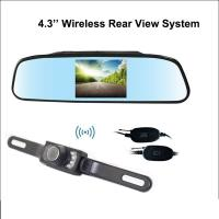 Wholesale Wireless 4.3 Inch Reverse Rear View Camera Car Night View Camera rearview mirror display back up assist from china suppliers