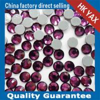 Wholesale 0522 YAX204-Amethyst color;china swainstone pedreria manufacturer;hotfix strass;cheap price china hotfix rhinestone from china suppliers