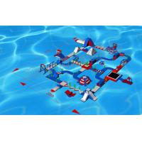 Quality Giant Exciting Inflatable Aqua Park / Inflatable Playground With Slide 50 * 35m for sale
