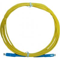 Wholesale SC Connector PC Fiber Optic Patch Cord High Speed SM/MM 9/125 PVC Yellow Jacket from china suppliers