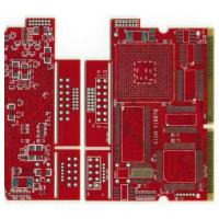 Wholesale Customized Red color Beveling Chemical Gold 5.0oz copper FR-4 pcb with Four Layers from china suppliers