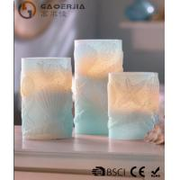 Wholesale 3 Set Scented Battery Operated LED Candles with Seashell Starfish from china suppliers