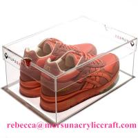 Wholesale Transparent Acrylic Shoe Holder Plastic Display Show Case For Shoe from china suppliers