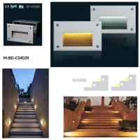 Wholesale Tempered Glass + Die-casting Aluminum Recessed Wall Lights For Stairs 100 - 240V AC from china suppliers
