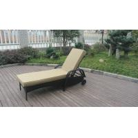 Wholesale Swimming Pool / Beach Rattan Sun Lounger With Aluminium Frame from china suppliers