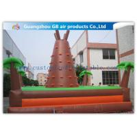 Wholesale Outdoor Brown Mountain Inflatable Rock Climbing Wall For Teenagers Games from china suppliers