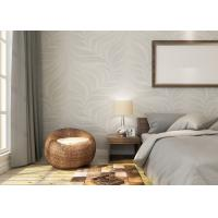 Wholesale Embossed Leaf Pattern Modern Removable Wallpaper for Bedroom With Vinyl Material from china suppliers