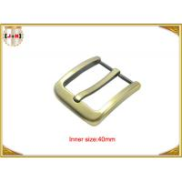Wholesale Gold Zinc Alloy Pin Metal Belt Buckle / Mens Fashion Belt Buckles from china suppliers