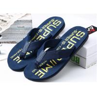 Wholesale Summer Womens Thong House Slippers , Plastic Flip Flops With Fashion Letters Printed from china suppliers
