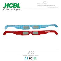Wholesale Comfortable Disposable Passive Polarized Paper 3d Glasses / Stereo Anaglyph Glasses from china suppliers