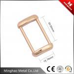 Gold-plated custom metal die casting bag buckle,metal bag buckle 16.78*30.6mm