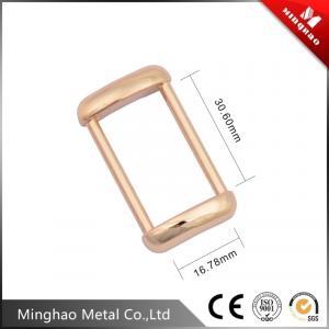 Quality Gold-plated custom metal die casting bag buckle,metal bag buckle 16.78*30.6mm for sale