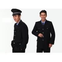 Single Breasted Security Guard Uniform , Long Sleeve Black Security Jacket For for sale