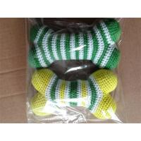 Wholesale Cotton Crochet Dog Toys Knitted Bone Squeaker Toy Colourful Stripes from china suppliers
