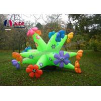 Wholesale CE Inflatable Lighting Decoration 12 Corner Advertisement Green Flowers from china suppliers