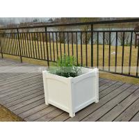 Quality 150001 square polywood flower pot  environment friendly top design outdoor furniture for sale