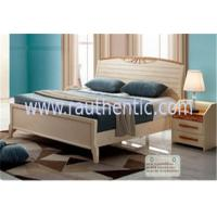 Wholesale Adults Low Headboard Light Wood Queen Beds , Full Size Wooden Bed Frame With Headboard from china suppliers