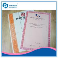 Wholesale A4 Customized Certificate Printing Service With Art Paper / Coated Paper from china suppliers