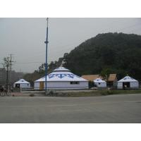 Wholesale Yurt Camping Tent White With Some Paintings , Mongolian Homes Yurts For  Leisure Party from china suppliers