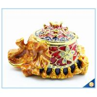 Wholesale Fashion Elephant Design With Pearl High Quality Trinket Box Wholesale SCJ431 from china suppliers