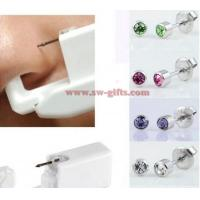 Wholesale Women No Pain Ear Piercing Kit Disposable Safe Sterile Body Piercing Gun+Stainless Steel Stud+Alcohol Prep Pad from china suppliers