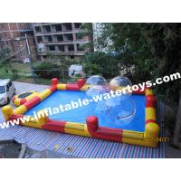 Wholesale 0.6mm Plato PVC Tarpaulin Red and Blue Inflatable Swimming Water Pool for amusement park from china suppliers