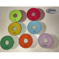 Wholesale 5 inch High Quality ceramic bond dry concrete polishing pad with long life for angle grinder from china suppliers