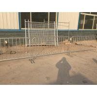 Wholesale 42 Microns Hot Dipped@ Galvanised Steel Plate Foot Full HDG D Crowd Control Barriers from china suppliers