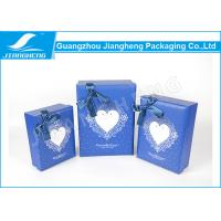 Wholesale Embossed Logo Blue Cardboard Heart Shaped Gift Box For Candy / Chocolate from china suppliers
