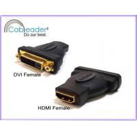 Wholesale Reduce EM and RF interference HDMI Female Adapter DVI-D 24+1 Female to HDMI 19 pin Female from china suppliers