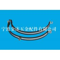 Quality M8 / M10 Heavy Duty Pipe Clamps With Rubber Galvanized Iron Material 20 mm Bandwidth for sale