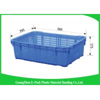 Wholesale Green Vegetable Plastic Food Crates Large Vented For Cold Chain Transport from china suppliers