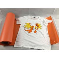 Wholesale Orange Color Washable 50cm*25 Size Flock Heat Transfer Vinyl For Shirts from china suppliers