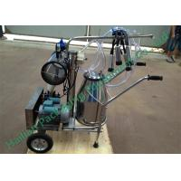 Wholesale Single Cow Mobile Milking Machine , Electric Bucket Milking Machine from china suppliers