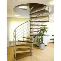 Wholesale Stainless steel round stairs wood stairway from china suppliers