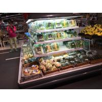 Quality Black Commercial Display Fridge , Four Side Display Circle Fridge for sale