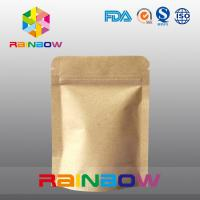 Wholesale Stand Up Kraft Paper Bags for Candy Packaging with Zipper and Window from china suppliers