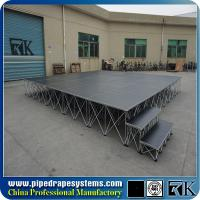 Aluminum RK intellistage portable stage for sale, concert smart stage supplier