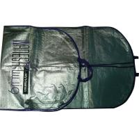 Wholesale Vl 75g Silvery Unwoven Fabric Dress Garment Suit Bag With Purple Binding, 2C Printing from china suppliers