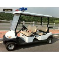 Wholesale Comfortable Electric Golf Buggy , 4 Person Golf Cart Alarm Lights For Patrol from china suppliers