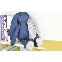 Wholesale Long ears Rabbit Stuffed Animal denim toys,35CM Custom gifts from china suppliers
