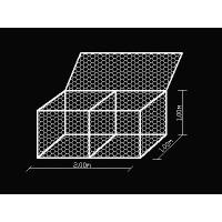 Wholesale Black Rock Baskets Wire Mesh , 0.5m X 1m X 1m Galvanized Gabion Wall Baskets from china suppliers