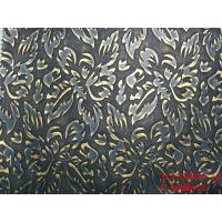 Buy cheap Embossed flowers pu leather with woven backing for bags from wholesalers