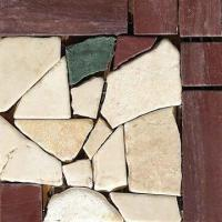 Quality Mosaic Border, Mesh-mounted, Made of Stone, Ideal for Outdoor/Inner Kitchen, Measures 100 x 100mm for sale