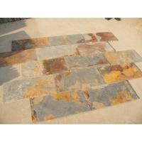 Wholesale S1120 Slate Natural Cleft Chinese Multicolor Slate Pavers Rusty Slate Patio Stones from china suppliers